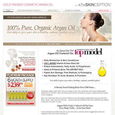 Skinception Argan Oil