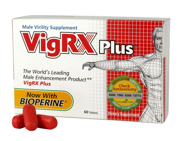 Box of VigRX Plus, a male enhancement supplement